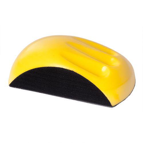 150мм Шлифблок под круг, прямоугольный, жёлтый