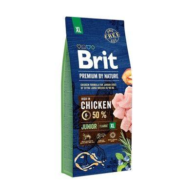 Корм сухой BRIT PREMIUM JUNIOR XL для щенков гигантских пород с курицей 15кг