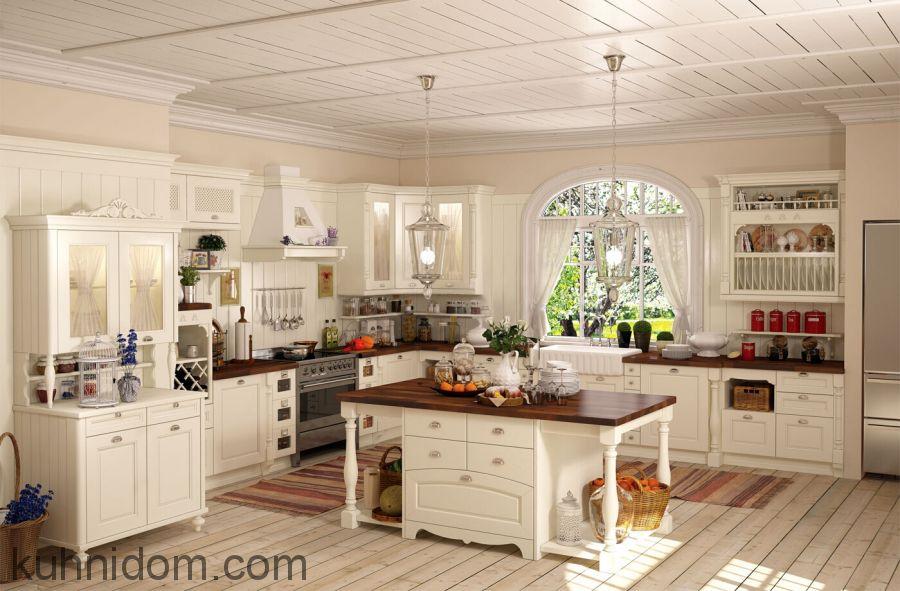 Кухня Прованс с островом