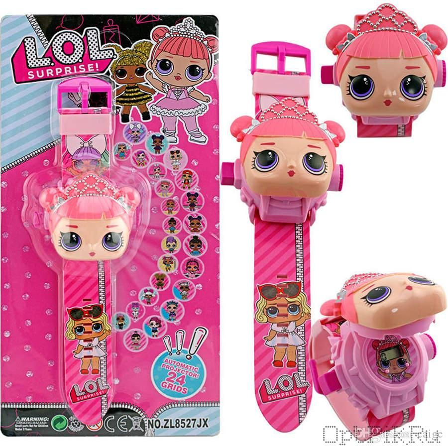 Электронные часы с проектором кукла ЛОЛ LOL