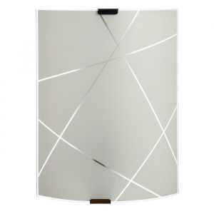 Бра 1071005205848 E27 60W матовый белый/металлик 29,8х21х7,7см   4608169
