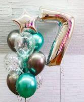 Гелиевые шары  набор серебро с хромом