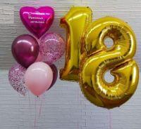 Гелиевые шары набор 18 юбилейный