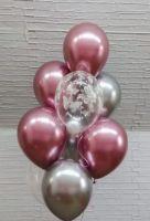 Гелиевые шары набор хром