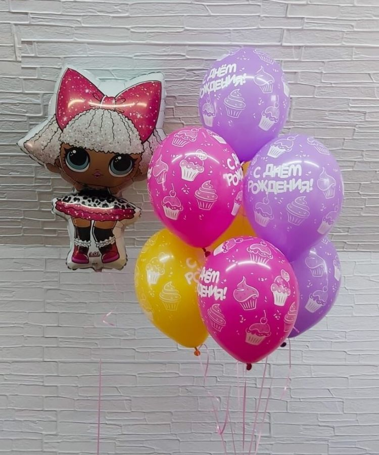 Гелиевые шары лол с днем рождения