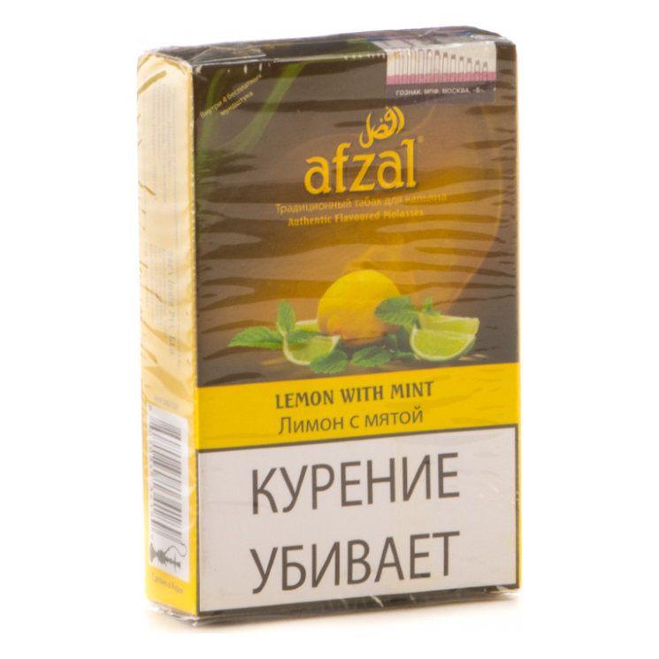 Табак Afzal - Lemon with Mint (Лимон с Мятой, 40 грамм АКЦИЗ)