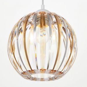 Светильник 4330/1, 1хЕ27 15Вт, коричневый/прозрачный 21х24+60 см 5126743
