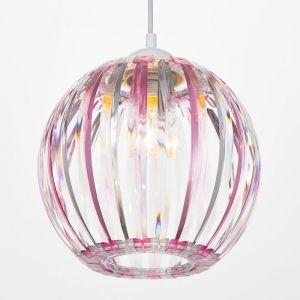 Светильник 4330/1, 1хЕ27 15Вт, розовый/прозрачный 21х24+60 см 5126744