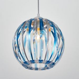 Светильник 4330/1, 1хЕ27 15Вт, синий/прозрачный 21х24+60 см 5126745