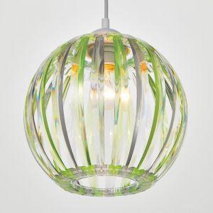 Светильник 4330/1, 1хЕ27 15Вт,, зеленый/прозрачный 21х24+60 см 5126742