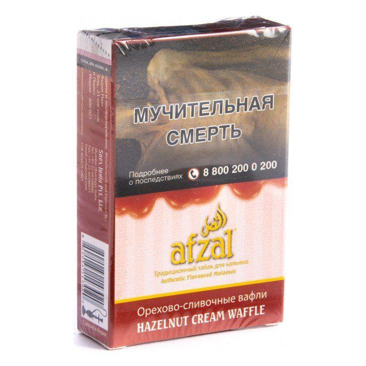 Табак Afzal - Hazelnut Cream Waffle (Орехово-сливочные Вафли, 40 грамм АКЦИЗ)
