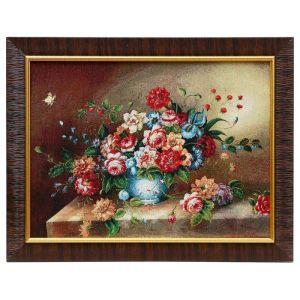 """Картина из гобелена """"Букет пионов"""", 35х45 см"""