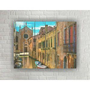 """Картина на дереве в стиле Loft """"Венеция"""" 56*42 см   3950485"""