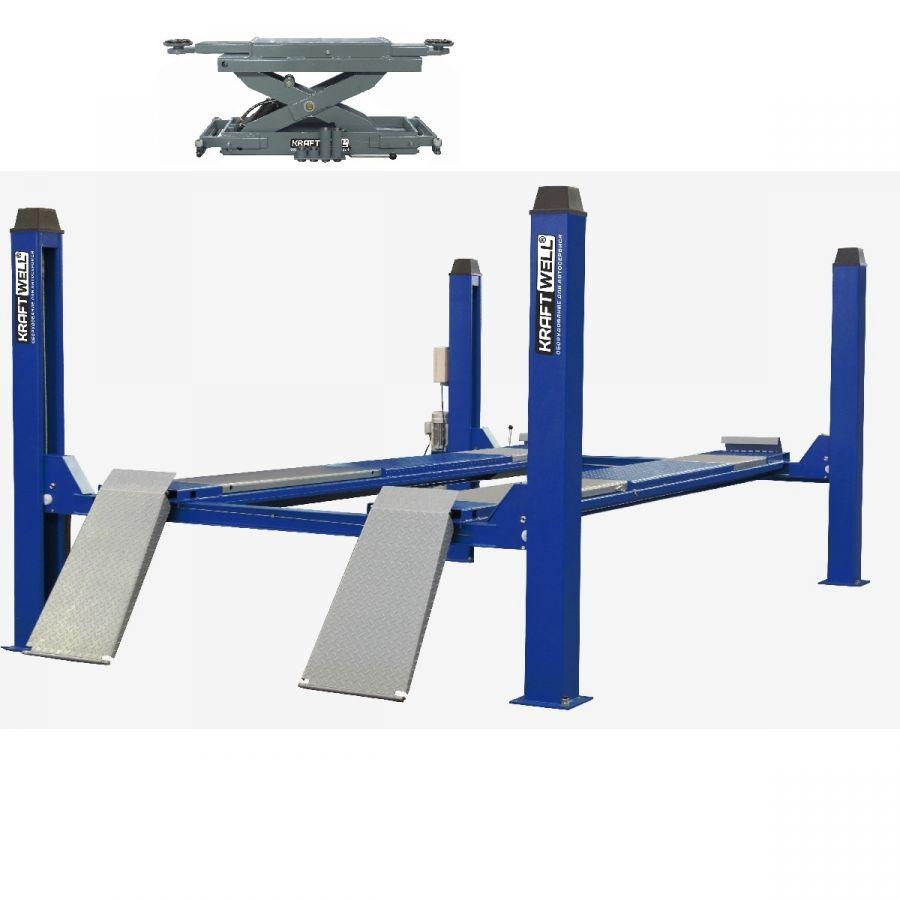 KraftWell KRW6.5WA_blue+KRWJ7P Комплект для сход-развала г/п 6.5 тонн