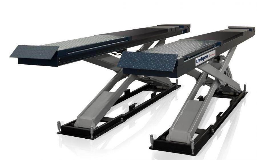 Подъемник ножничный Velyen 4EE0700F г/п 4500 кг., платформы гладкие