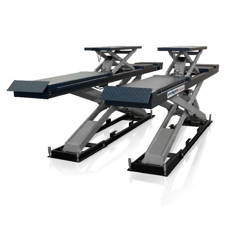Velyen 4EE0500F Подъемник ножничный г/п 4000 кг., платформы гладкие с подъем. второго уровня