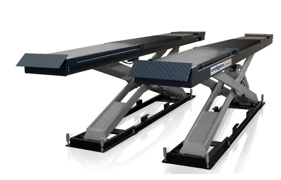 Подъемник ножничный Velyen 4EE2600L  г/п 5500 кг., платформы для сход-развала