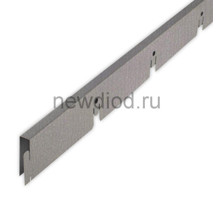 Рейка Grigliato-E нап. 100x100 h40 b10 A907RUS04 металлик L=2.40 (алюм.)