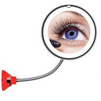 Косметическое зеркало на вакуумной присоске и подсветкой My Fold Jin Ge Mirror, красный