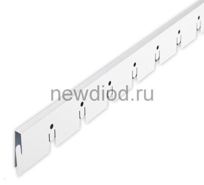 Рейка Grigliato-E нап. 100x100 h40 b10 A903RUS01 белый матовый L=1.20 (алюм.)