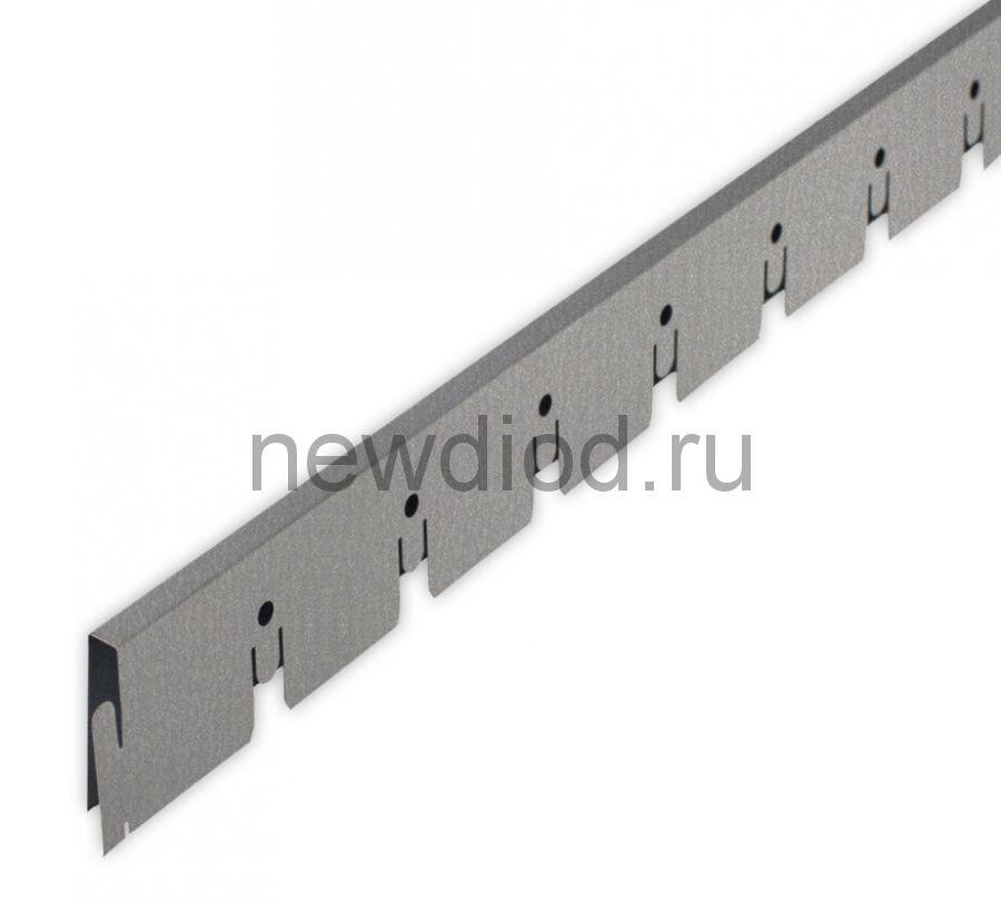 Рейка Grigliato-E нап. 50x50 h40 b10 A907RUS04 металлик L=0.60 (алюм.)