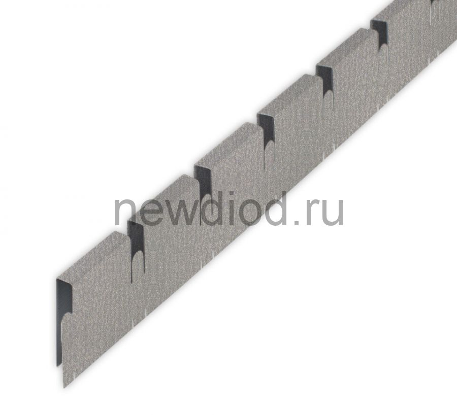 "Рейка Grigliato-E ""папа"" 50x50 h40 b10 A907RUS04 металлик L=0.60 (алюм.)"