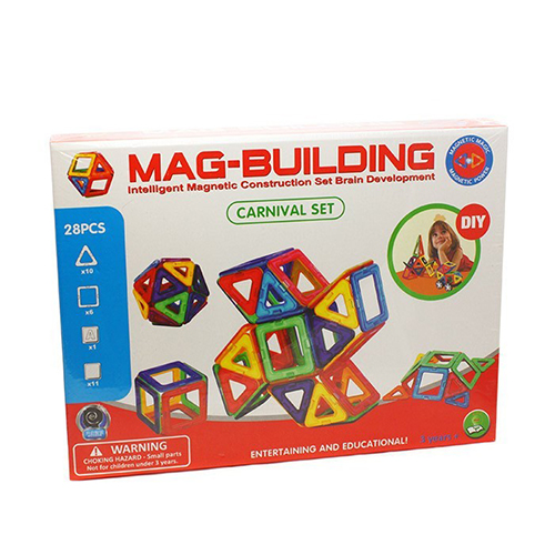 Магнитный конструктор MAG BUILDING, 28 деталей
