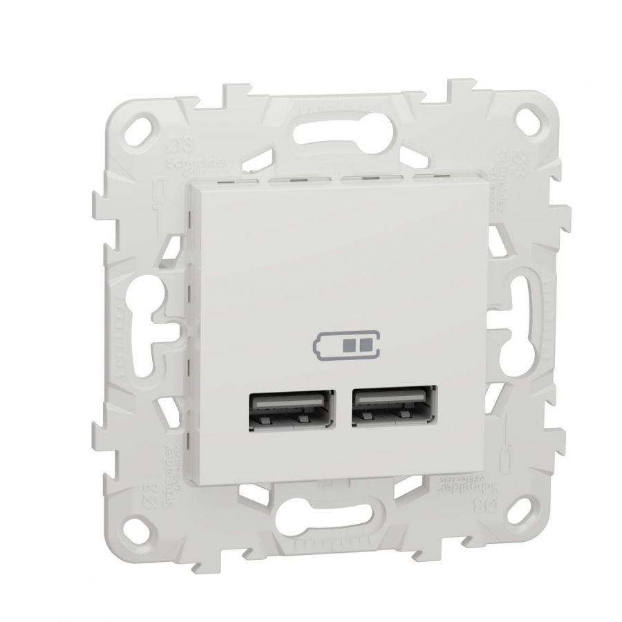 Розетка компьютерная USBx2 Schneider Electric Unica New NU541818