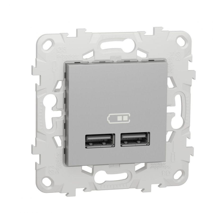Розетка компьютерная USBx2 Schneider Electric Unica New NU541830
