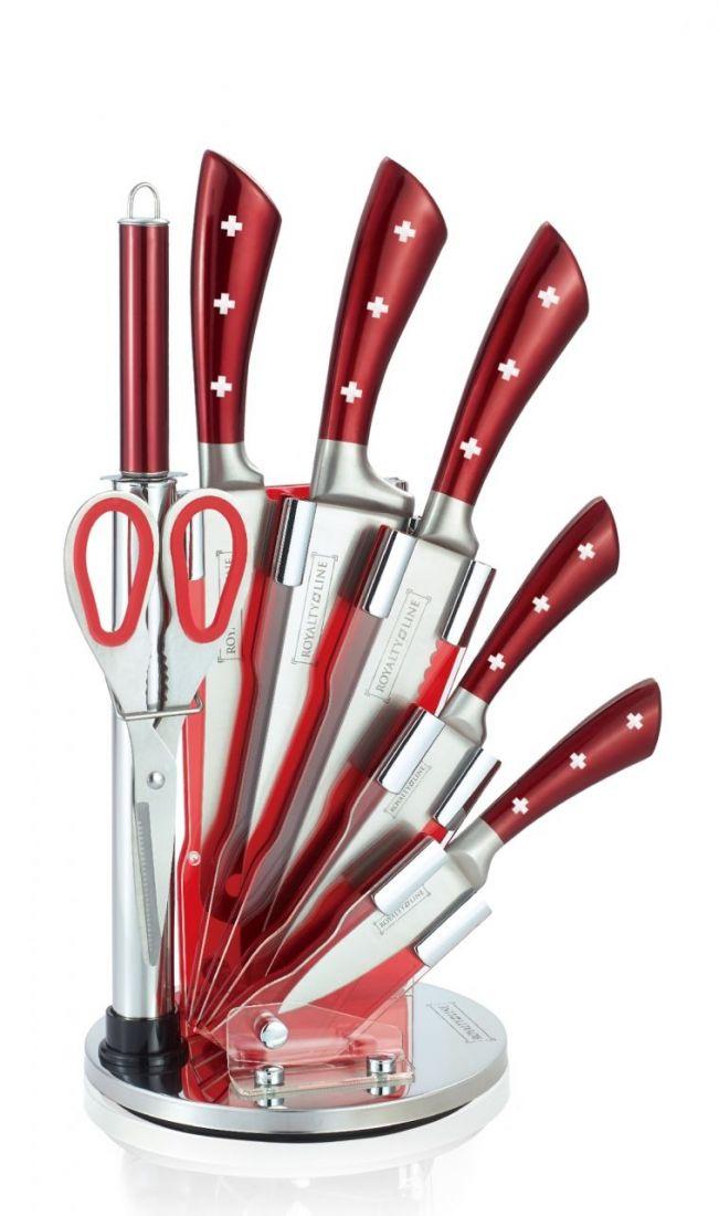Набор ножей Royalty Line на подставке 8 пр. из нержавеющей стали RL-KSS820