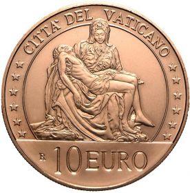 Пьета Микеланджело «Оплакивание Христа» 10 Евро Ватикан 2020