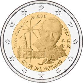 100 лет со дня рождения Иоанн Павел II 2 евро Ватикан 2020 на заказ