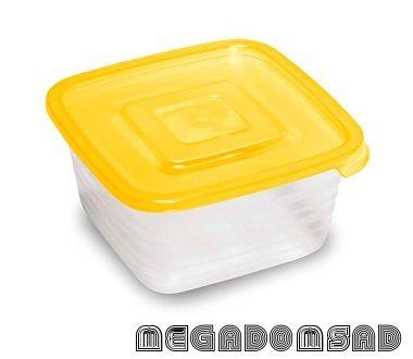 Контейнер для продуктов (СВЧ) «Унико» квадратный 0,45л С208