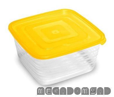 Контейнер для продуктов (СВЧ) «Унико» квадратный 1,4л С210