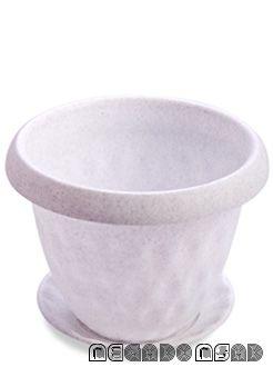 """Горшок для растений """"Розетта"""" 1,7л Д170 c поддоном мрамор С126МРА"""