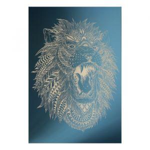 Зеркало декоративное «Лев», с лазерной гравировкой, 21?30 см   4301436
