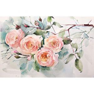 """Картины на подрамнике """"Акварель. Ветка розы"""" 40*50 см   4194752"""