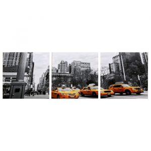 """Модульная картина """"Движение мегаполиса"""" (3-35х35) 35х105 см 4983629"""
