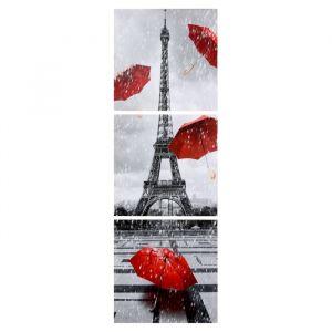 "Модульная картина ""Дождливый Париж"" (3-35х35) 35х105 см 4983646"