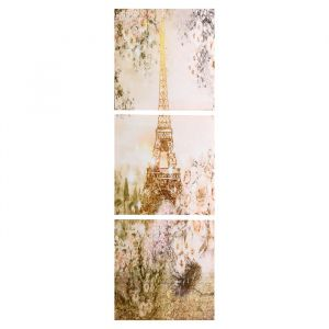 """Модульная картина """"Летний Париж"""" (3-35х35) 35х105 см 4983645"""