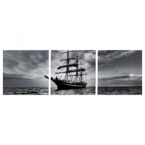 "Модульная картина ""Морские дали"" (3-35х35) 35х105 см 4983622"
