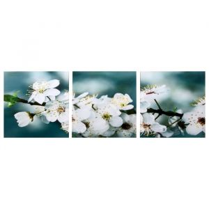 """Модульная картина """"Яблоня"""" (3-35х35) 35х105 см 4983615"""