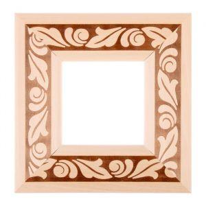 Рама для зеркал и картин, дерево, 10 х 10 х 5.0 см, липа, «Лепесток», горячее тиснение