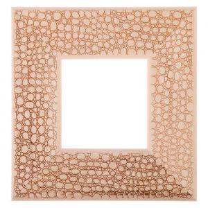 Рама для зеркал и картин, дерево, 10 х 10 х 5.0 см, липа, «Питон», горячее тиснение