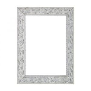 """Рама для зеркал и картин, дерево, 18 х 24 х 4.0 см, """"Версаль"""" цвет бело-серебристый"""