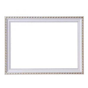 Рама для зеркал и картин, пластик, 21 х 30 х 2.6 см, Calligrata 642968, белая с золотом
