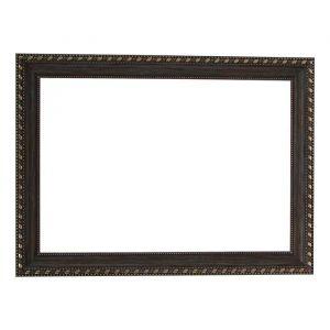 Рама для зеркал и картин, пластик, 21 х 30 х 2.6 см, Calligrata 642988, серо-коричневая с золотом