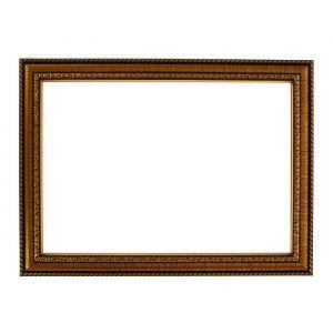 Рама для зеркал и картин, пластик, 21 х 30 х 2.8 см, Calligrata 644813, золото