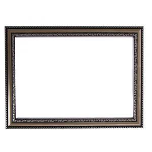 Рама для зеркал и картин, пластик, 21 х 30 х 2.8 см, Calligrata 644821, серебро