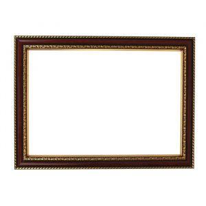 Рама для зеркал и картин, пластик, 21 х 30 х 2.8 см, Calligrata 644858, тёмно-коричневая с золотом